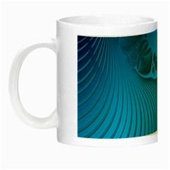 Fractals Lines Wave Pattern Night Luminous Mugs by Simbadda