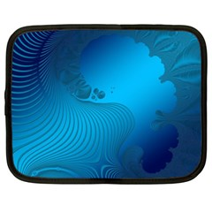 Fractals Lines Wave Pattern Netbook Case (xxl)  by Simbadda