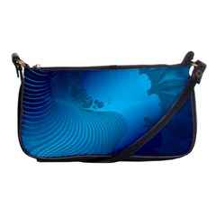 Fractals Lines Wave Pattern Shoulder Clutch Bags by Simbadda