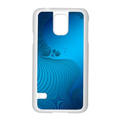 Fractals Lines Wave Pattern Samsung Galaxy S5 Case (white) by Simbadda
