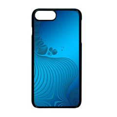 Fractals Lines Wave Pattern Apple Iphone 7 Plus Seamless Case (black) by Simbadda