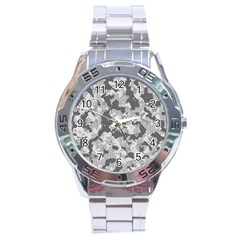 Camouflage Patterns  Stainless Steel Analogue Watch by Simbadda