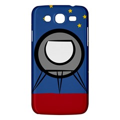 A Rocket Ship Sits On A Red Planet With Gold Stars In The Background Samsung Galaxy Mega 5 8 I9152 Hardshell Case  by Simbadda