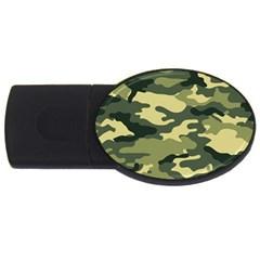 Camouflage Camo Pattern Usb Flash Drive Oval (4 Gb) by Simbadda