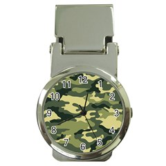 Camouflage Camo Pattern Money Clip Watches by Simbadda