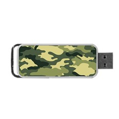 Camouflage Camo Pattern Portable Usb Flash (one Side) by Simbadda