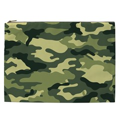 Camouflage Camo Pattern Cosmetic Bag (xxl)  by Simbadda