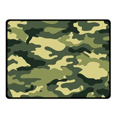 Camouflage Camo Pattern Double Sided Fleece Blanket (small)  by Simbadda