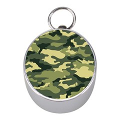 Camouflage Camo Pattern Mini Silver Compasses by Simbadda