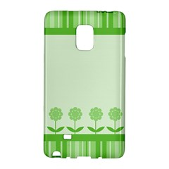 Floral Stripes Card In Green Galaxy Note Edge by Simbadda