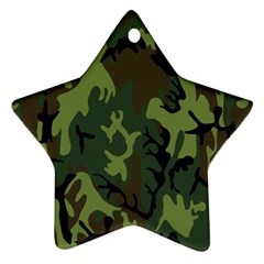 Military Camouflage Pattern Ornament (star) by Simbadda