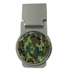 Military Camouflage Pattern Money Clips (round)  by Simbadda