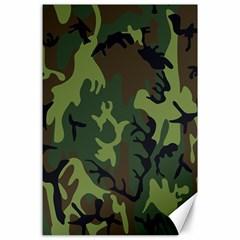 Military Camouflage Pattern Canvas 24  X 36  by Simbadda