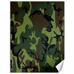 Military Camouflage Pattern Canvas 36  X 48   by Simbadda