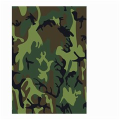 Military Camouflage Pattern Small Garden Flag (two Sides) by Simbadda