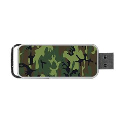 Military Camouflage Pattern Portable Usb Flash (two Sides) by Simbadda