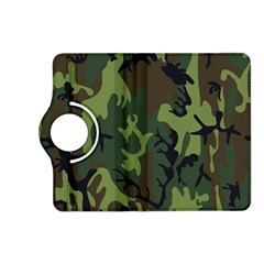 Military Camouflage Pattern Kindle Fire Hd (2013) Flip 360 Case by Simbadda