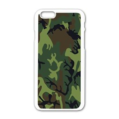 Military Camouflage Pattern Apple Iphone 6/6s White Enamel Case by Simbadda