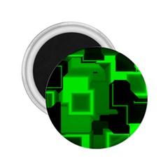 Green Cyber Glow Pattern 2 25  Magnets by Simbadda
