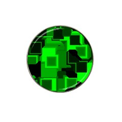 Green Cyber Glow Pattern Hat Clip Ball Marker (10 Pack) by Simbadda