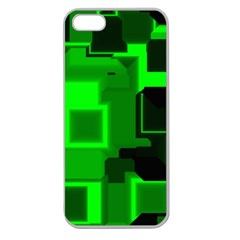 Green Cyber Glow Pattern Apple Seamless Iphone 5 Case (clear) by Simbadda