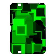 Green Cyber Glow Pattern Kindle Fire Hd 8 9  by Simbadda