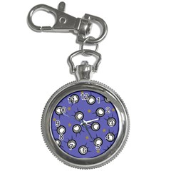 Rockets In The Blue Sky Surrounded Key Chain Watches