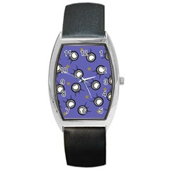 Rockets In The Blue Sky Surrounded Barrel Style Metal Watch by Simbadda