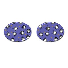 Rockets In The Blue Sky Surrounded Cufflinks (oval) by Simbadda