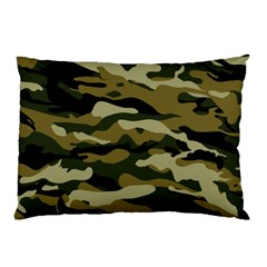 Military Vector Pattern Texture Pillow Case (two Sides) by Simbadda