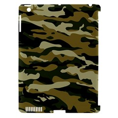 Military Vector Pattern Texture Apple iPad 3/4 Hardshell Case (Compatible with Smart Cover) by Simbadda