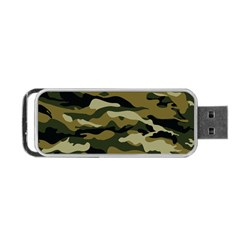 Military Vector Pattern Texture Portable Usb Flash (one Side) by Simbadda