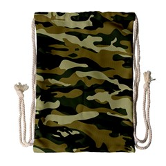 Military Vector Pattern Texture Drawstring Bag (large) by Simbadda