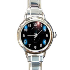 This Is An It Logo Round Italian Charm Watch by Simbadda