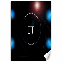 This Is An It Logo Canvas 12  X 18   by Simbadda
