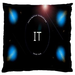 This Is An It Logo Large Cushion Case (one Side) by Simbadda