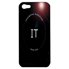 This Is An It Logo Apple Iphone 5 Hardshell Case by Simbadda