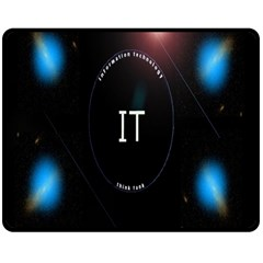This Is An It Logo Double Sided Fleece Blanket (medium)  by Simbadda