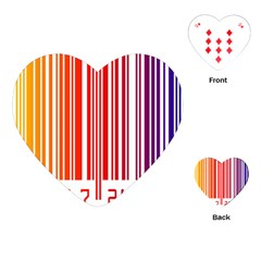 Colorful Gradient Barcode Playing Cards (heart)  by Simbadda