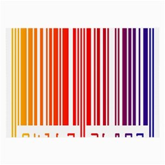 Colorful Gradient Barcode Large Glasses Cloth by Simbadda