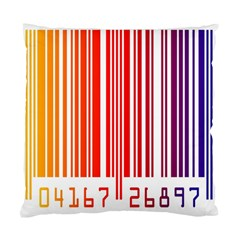 Colorful Gradient Barcode Standard Cushion Case (two Sides) by Simbadda