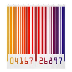 Colorful Gradient Barcode Shower Curtain 66  X 72  (large)  by Simbadda