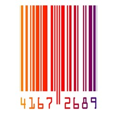 Colorful Gradient Barcode 5 5  X 8 5  Notebooks by Simbadda