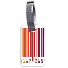 Colorful Gradient Barcode Luggage Tags (one Side)  by Simbadda