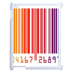 Colorful Gradient Barcode Apple Ipad 2 Case (white) by Simbadda