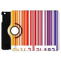 Colorful Gradient Barcode Apple Ipad Mini Flip 360 Case by Simbadda