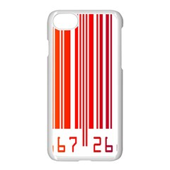 Colorful Gradient Barcode Apple Iphone 7 Seamless Case (white) by Simbadda