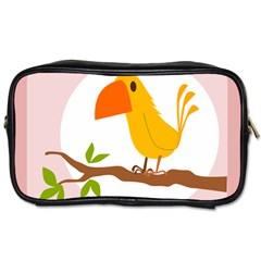 Yellow Bird Tweet Toiletries Bags 2 Side by Alisyart