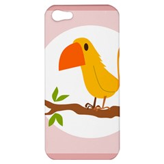 Yellow Bird Tweet Apple Iphone 5 Hardshell Case by Alisyart