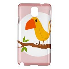 Yellow Bird Tweet Samsung Galaxy Note 3 N9005 Hardshell Case by Alisyart